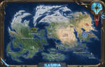World map of planet Illusia