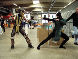 Cosplay Scorpion and Reptil by CosplayQuest