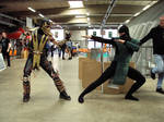 Cosplay Scorpion and Reptil