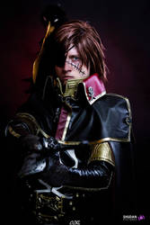 Space Pirate Captain Harlock cosplay by CosplayQuest