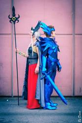 Cosplay Saint Seiya Odin Cloth and Polaris Hilda