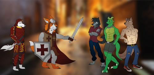 The Knight, The Samurai, And The Nightriders