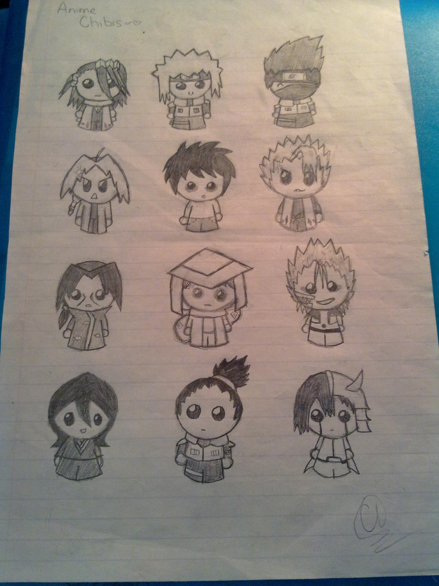 Anime Chibis :3 by carebear19364