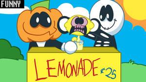 skid and pump are selling lemonade