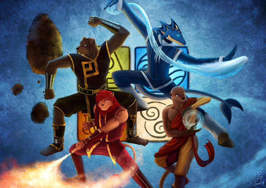 Four Elements Art : The four elements by koru xypress on deviantart