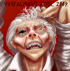 Wolfshriek face by AThousandRasps