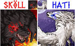 Skoll and Hati Portraits