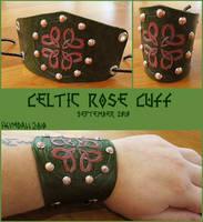 Celtic Rose Cuff by AThousandRasps