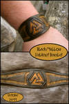 Black+Yellow Valknut Bracelet