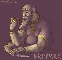Bolverk Enjoys a Smoke by AThousandRasps