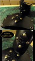 Sunwheel Geometric Cuffs 2 by AThousandRasps