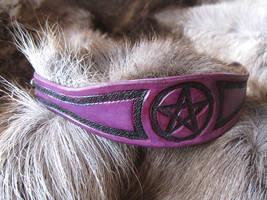 Purple and Black Pentacle Bracelet by AThousandRasps