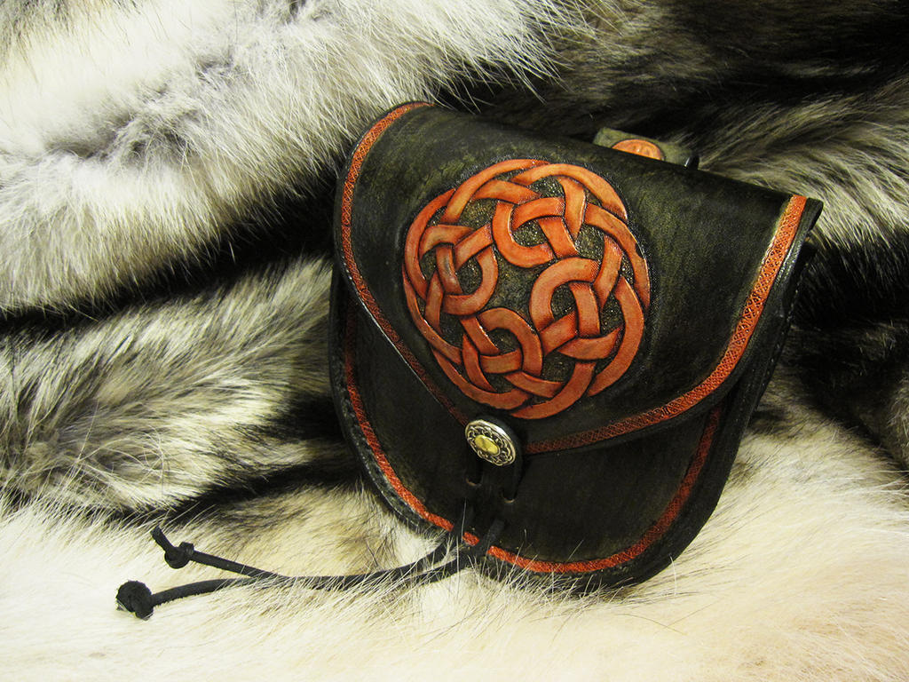 Celtic Knot Belt Pouch by AThousandRasps
