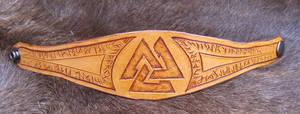 Runic Valknut Bracelet by AThousandRasps