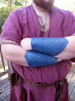 Blue Celtic Bracers by AThousandRasps