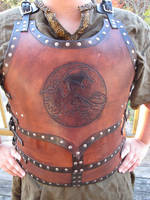Red Dragon Breastplate by AThousandRasps