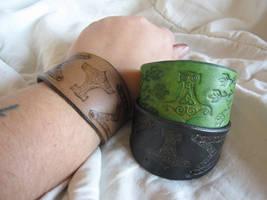 Mjolnir Bracelets by AThousandRasps