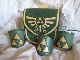 Leather Triforce Set by AThousandRasps
