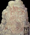 Norse Wolf Runestone