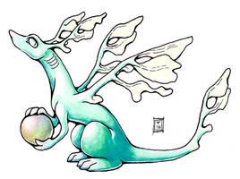 Inktober 1 (leafy sea dragon) by AThousandRasps