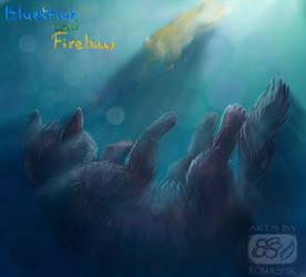 BlueStar and FireStar. Warriors by Romashik-arts