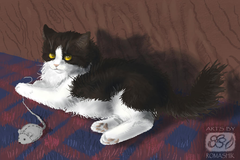 Alina`s cat Ksenia. Trade by Romashik-arts
