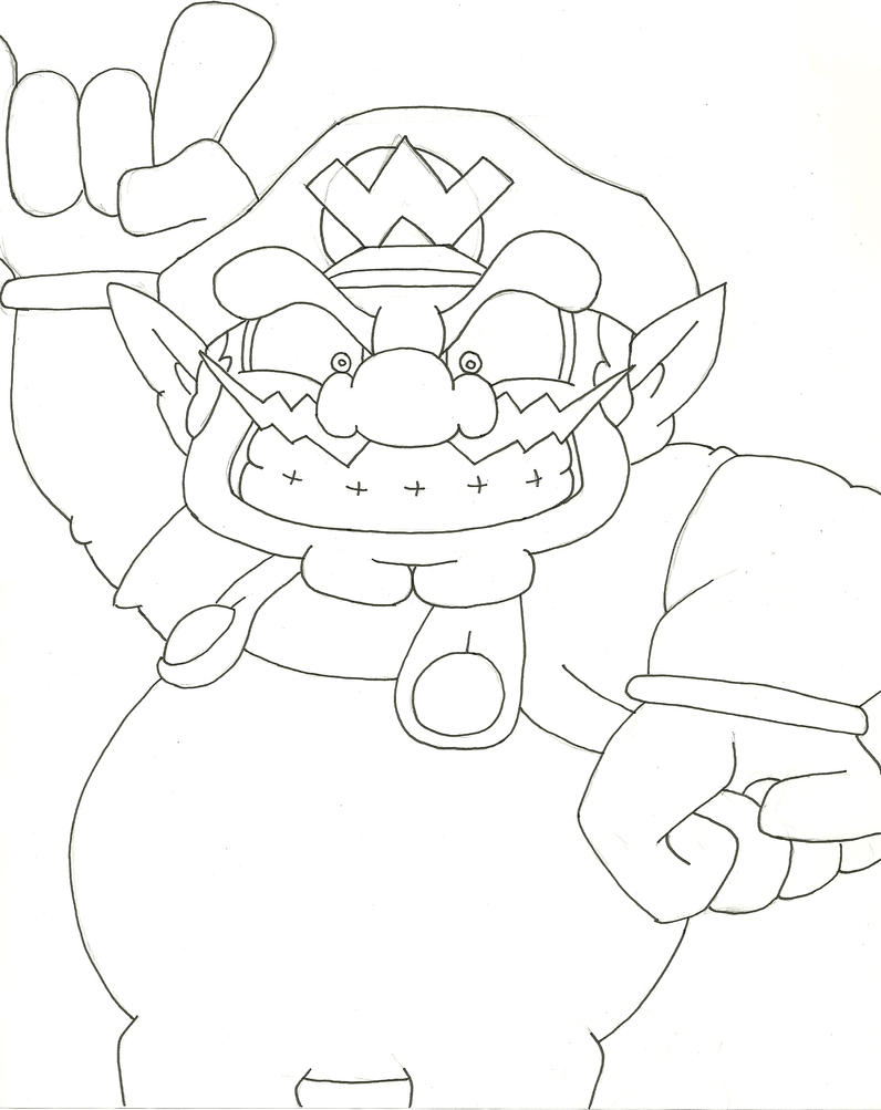 wario coloring pages - photo#27