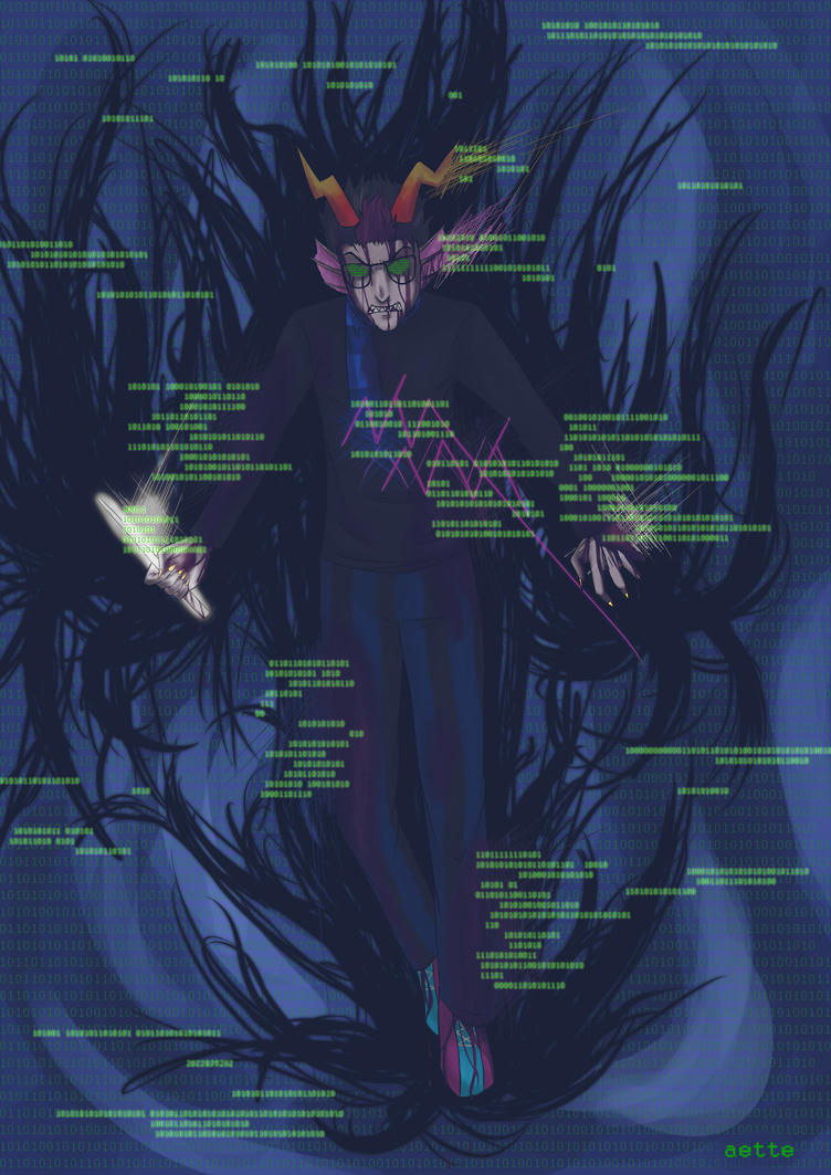 Glitch Eridan by Aettchen on DeviantArt Grimdark Eridan