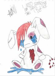 Emo Rabbit by FoxyFireRose