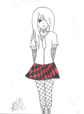 Gothic girl by FoxyFireRose