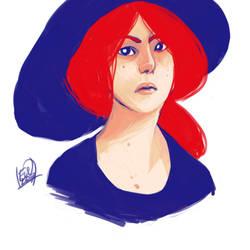 Red hair by Lika-san