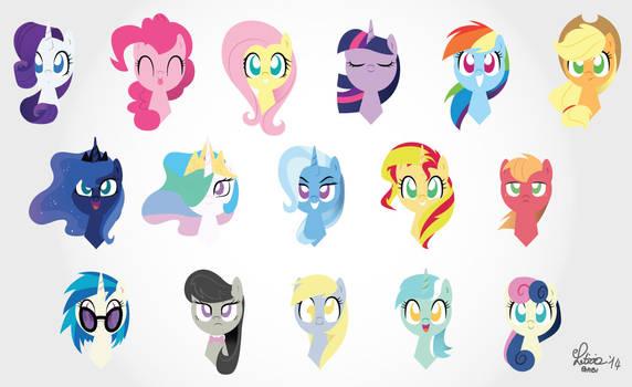 pony heads