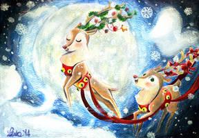 Proud reindeers