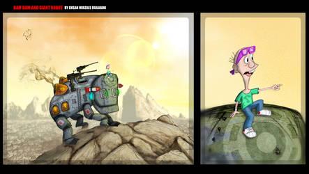 BAMBAM and Giant robot