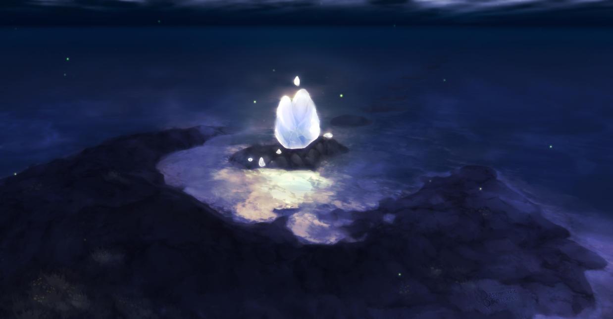 Crescent Island- Aku's Arrival Place by AsymmetricButterfly