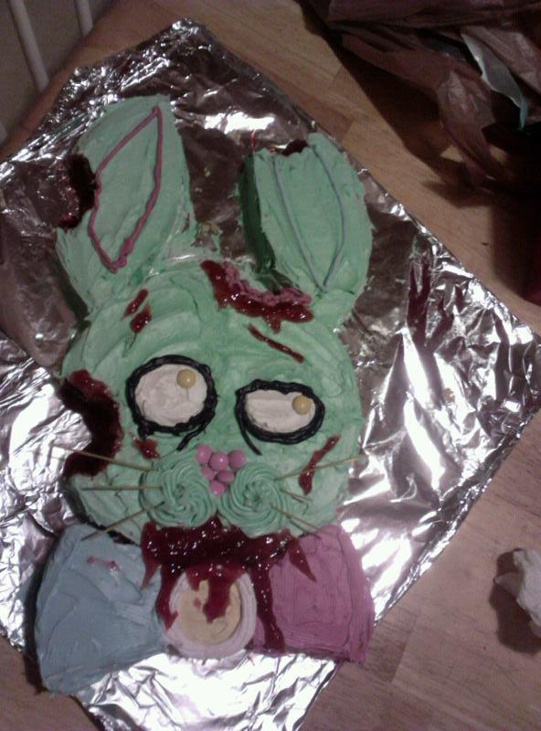 Zombie Bunny Cake