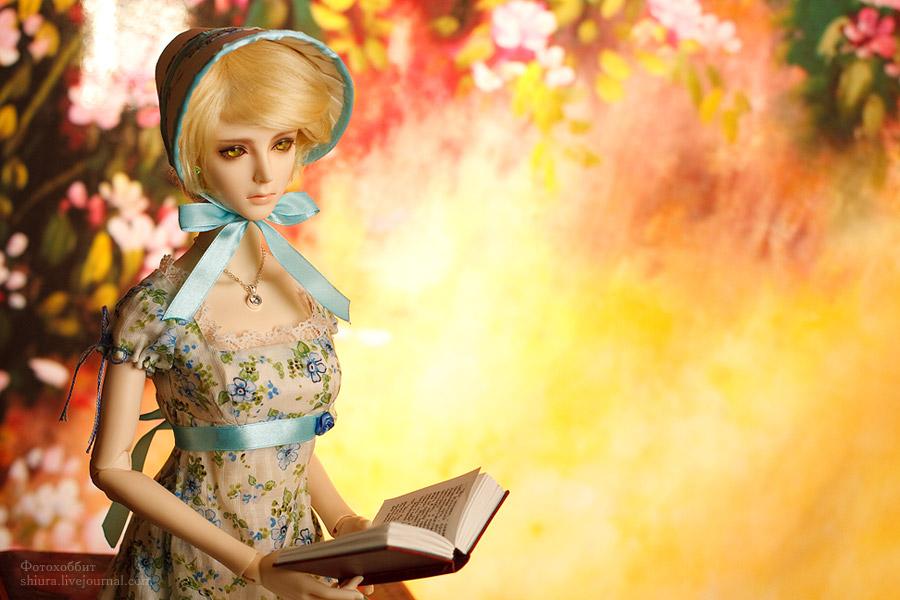 Reading young lady by gorlitsa