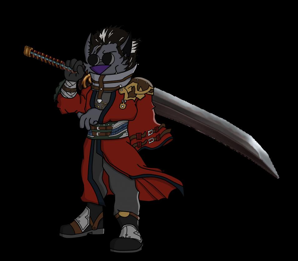 Auron Wolfling FanArt by SinsOfShadow