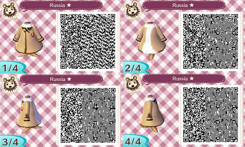 Animal Crossing NL-Hetalia QR Codes- Russia by hearts2love16