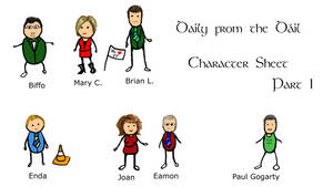 Daily from the Dail Characters by camir