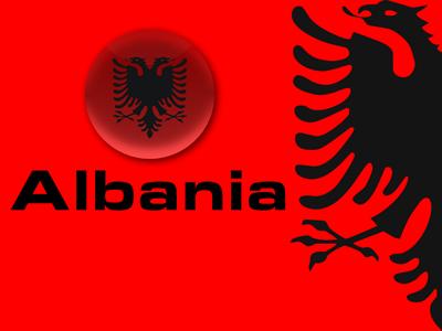"""Prejardhia e emrit """"Albania"""" Albanian_flag_by_terenci"""