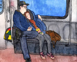 Yongin. Couple in a train by Vokabre