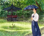 Seoul. In the Secret garden