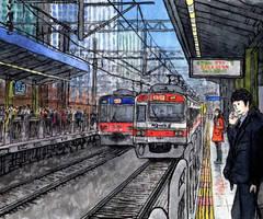 Seoul. Noryangjin metro station by Vokabre