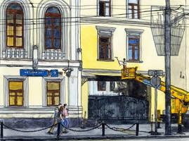 Vozdvizhenka Street by Vokabre
