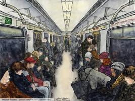 On a metro train to Vykhino by Vokabre