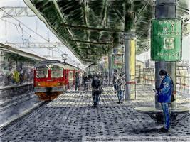 Vykhino Station by Vokabre