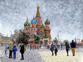 At the corner of the Red Square by Vokabre
