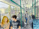 On a trolleybus in Sokolniki