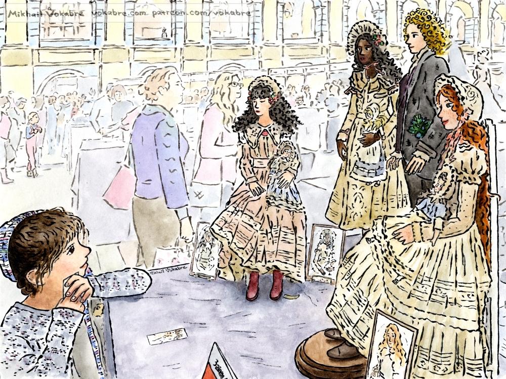 Barbara, Ella, John, Ksenia (at the 'Art of Doll') by Vokabre